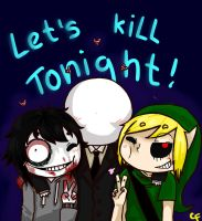 Jeff, Ben and Slender by KikWein
