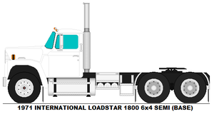 International Loadstar 1800 6x4 Semi base by MisterPSYCHOPATH3001