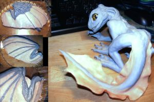 Little Clay Dragon WIP by Farelle