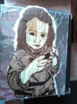 little girl Chocolate Painting by elilee23