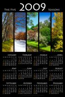 The Five 2009 Seasons Calendar by biretta