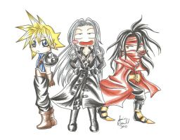::Chibi Final Fantasy VII:: by AnimeJanice
