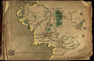 Map of Middle-Earth by onelover