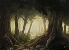Speedpaint-Forest by miriamrez