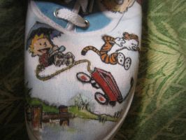 calvin and hobbes shoes-left1 by inkspill94