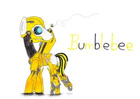 Bumblebee from Transformers: Prime as a pony by SpeedFeather