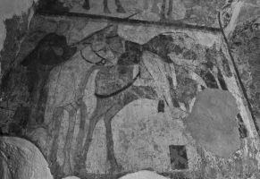 12th Century Wallpainting BW by Xs9nake