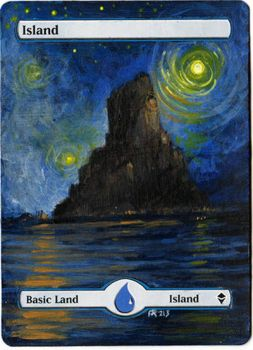Magic Card Alteration: Island 11-13 by Ondal-the-Fool