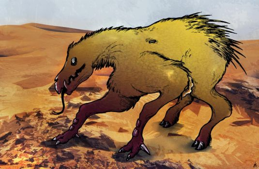 Spiny Desert Beast by Achaeopteryx