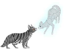 Graystripe and Silverstream by KZcat