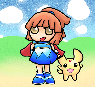 Arle and Carbuncle by TheCreatorOfSoften