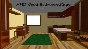 MMD Wood Bedroom Stage ~converted in sketchup~ by swiftcat-mooshi