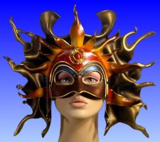 Sun Queen Mask by Duncan-Eagleson