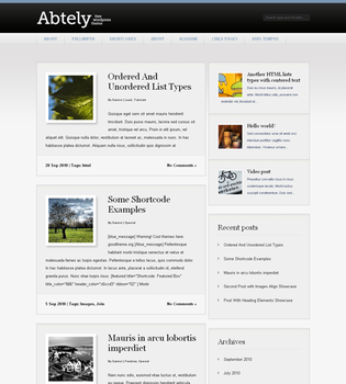 Abtely Free WP Theme by Dannci