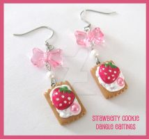 Strawberry Cookie Earrings by SabrinaDeeBerry