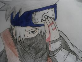 Injured Kakashi by lyrablaze