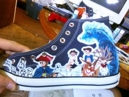 Ghibli Shoes- Princess Mononoke by clmcmillion
