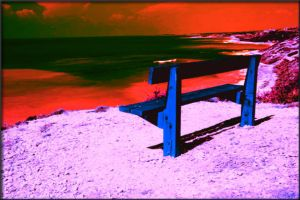 The Beach Bench by floydian1987
