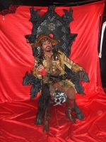 Pirate Overlord in his throne by cosplayoverlord