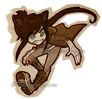 Chibi Commission: Wrath Wolf by Digimitsu