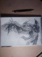 Rathalos sketch study by MusicOnTheRoad