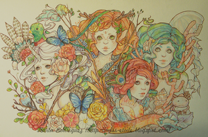 Fantasy of 4 elements by Miss-Etoile