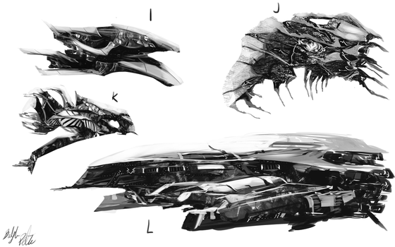 Spaceship concepts3 by PeterPrime