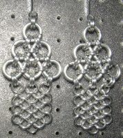 Chainmaille Earring 57 by Des804