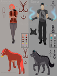 Artistica and Ghost Refrence Sheet by Artzipants
