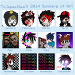 +`~ 2014 Summary Of Art ~`+ by Mr-Speckles