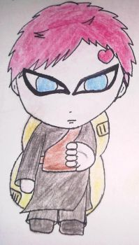 Chibi Gaara by crayon-warrior-blue