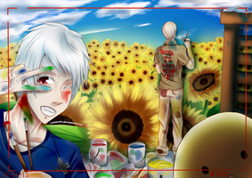 Paint A Field of Sunflower With Us by Kalafin99