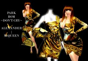 Park Bom Alex. McQueen Dress by TheMangaBoy