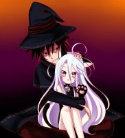 Halloween Sora and Shiro (For NGNL Contest) by Final-Boss-Emiko