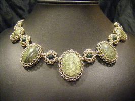 persian byzantine necklace serpentine by BacktoEarthCreations