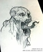 Undead Abomination Sketch! by TentaclesandTeeth