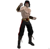 Mortal Kombat vs DC Universe: Liu Kang Red Clothes by OGLoc069