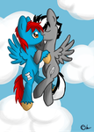 Commission: Wing and Thunder-Dash by lunaismostkawaii
