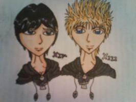 Xion and Roxas by delightfuliza