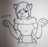 Anthro  Sketch :: Give me Feedback? by AlwaysRonnie