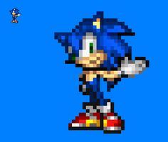 Sonic Sprite by NSMBXomega