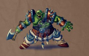 Quick WoW Orc Sketch by fdiskart