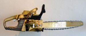 gold fendi chainsaw by peter-gronquist