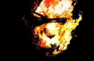 Burning Head by Siphen0