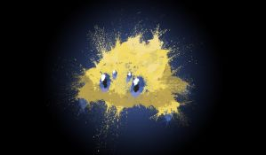 Paint Drip Joltik w/ Alt Background by ImpersonatingPanda