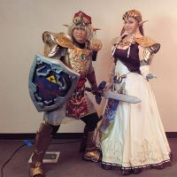 Twilight Princess Zelda and Magic Amor Link 01 by strawberry-usagi101