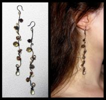November rain earrings by JSjewelry