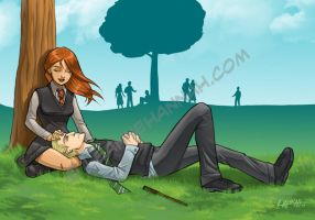 Ginny and Draco by stratosmacca