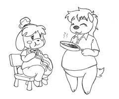 Dinner Bell - Feeding Isabelle by AniWhichWay
