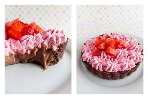 Double Chocolate Strawberry Tartelettes by dabbisch